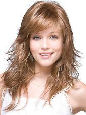Qualität Hellbraunen Locken Elegante Synthetische Dame Medium Perücke Mode Wigs