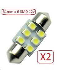 2x 31mm 6SMD LED 5630 12V LED Festoon Car Truck Boat Interior Dome Lights Bulbs