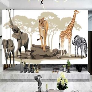 Giraffe Drama Sky 3D Full Wall Mural Photo Wallpaper Printing Home Kids Decor