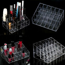Generic 24 Stand Trapezoid Clear Plastic Lipstick Lotion Makeup Cosmetic Holder