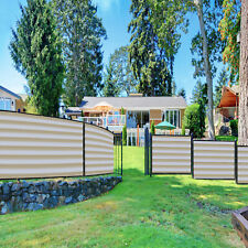 11ft Beige white Fence Privacy Screen Commercial 95% Blockage Mesh w/Gromment