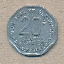 Transport Paris 20 ct. Bon pour un parcour 1923 (108428)