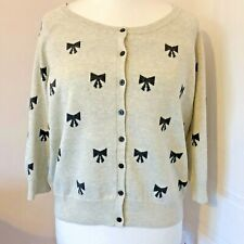 Beige Button Down 3/4 Sleeved Cardigan By South Black Bow Pattern Size 20 BNWT