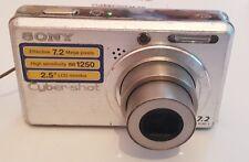 Sony Cyber-shot DSC-S750 7.2MP Digital Camera - Silver - Read