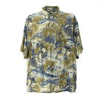 Pierre Cardin Herren Kurzarmhemd Größe 2XL XXL Shirt Vintage Komplettprint