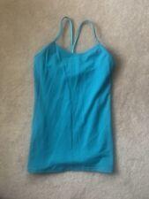 Euc Women's Lululemon Power Y Tank Top Aqua Blue Size 6