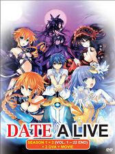 DVD English Version Date A Live Season 1+2 (Vol.1-22) + 2 OVA + Movie +Free gift