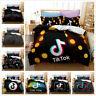 Tik Tok Bedding Set 3D Duvet Quilt Duvet Twin/Queen Comforter Cover Pillowcase