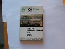 CARD PUBLICTIONS LTD JACK BRABHAM'S CAR CARE CARDS  SERVICE YOUR OWN CORTINA