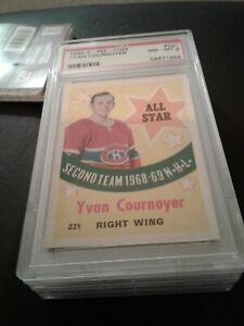 1969-70 opc 221 Yvan Cournoyer AS Psa 8