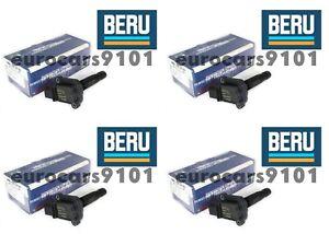 Set of (4) Mercedes-Benz C230 Beru Direct Ignition Coils ZS053 0001502980