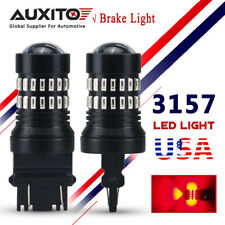AUXITO Pair 3156 3157 LED Bulb Pure RED Break Tail Light Stop Singal Light T25