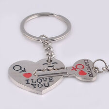 1 Pair I Love You Heart+Arrow + Key Couple Key Chain Keyring Lover Partner Gifts