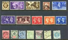 73 Different Used Stamps from Great Britain, Victoria (Penny Red) to Q.E. Ii
