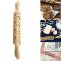 2019 Puppy print Christmas Rolling Pin Engraved Rolling Pin Embossed Rolling 201