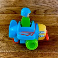 Tomy Toomies Push And Go Vehicle Plane Toy Areoplane Pilot FWO VGC