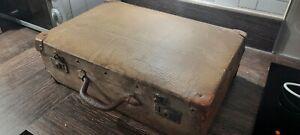 Antique Vintage Small Brown Suitcase