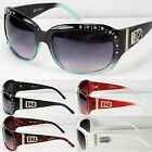 New DG Eyewear Womens Rhinestones Sunglasses Designer Shades Fashion Wrap Retro