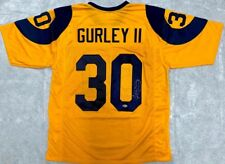 Todd Gurley Signed Jersey - Autographed Yellow Throwback Beckett BAS
