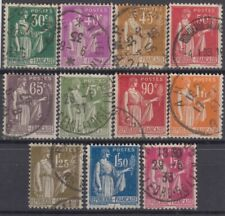 FRANCE : TYPE PAIX SERIE COMPLETE N° 280/289 OBLITERATIONS CHOISIES