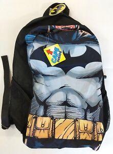 Batman Backpack Bookbag With Attached Cape Chest Black NEW DC Comics Bioworld