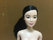 Barbie Doll Made To Move Lea Asian Head Rebodied Raven Straight Hair
