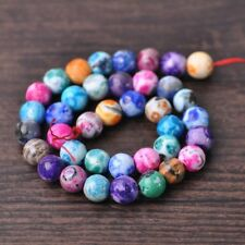 1 Strand 38pcs Round 10mm Natural Agate Stone Mixed Colorful GEMSTONE Beads
