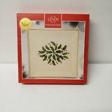 """Lenox Holiday Christmas Plate 6"""" New in the Box Holly by Design B807-075"""