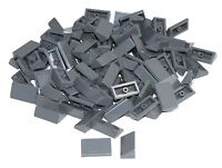 Lego Lot of 100 New Dark Bluish Gray Slopes 30 1 x 2 x 2/3 Sloped Pieces