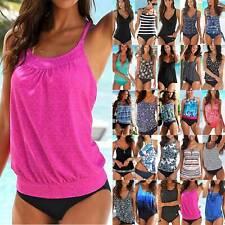 Women Push Up Tankini Set Top Sporty Bikini Beach Swimsuit Swimwear Bathing Suit