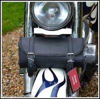 Sacoche sac trousse à outils de fourche en Cuir Rectangulaire Simple moto custom