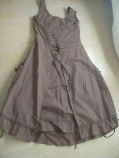 Robe tunique marron glacé dress tunic kleid 38 40 coton Mais il est ou le soleil