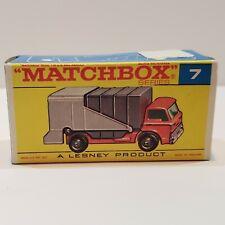 MATCHBOX Lesney Fred Bronner #7 FORD REFUSE TRUCK  ORIGINAL Vintage Box NM++!