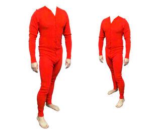 Long John Western Unterwäsche rot Einteiler Baumwolle  - Cowboy Unterhose