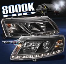 2005-2008 AUDI A6 LED PROJECTOR HEAD LIGHTS LAMP BLACK W/8000K HID DRL 2006 2007