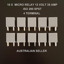 10 X MICRO RELAY ISO 280 SPST 35 AMP 12V SUIT BUSSMANN AUTOMOTIVE ELECTRICAL