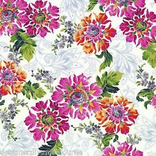 Jenny Jane - Romance in the Garden - White / Silver, cotton quilting fabric