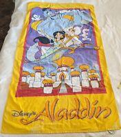 Vintage Disney's Aladdin Beach Towel Franco 90's Genie Jasmine Magic Carpet   AA