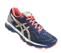Asics Womens Gel-Kayano 23 Running Shoes T6A6N Blue Silver Flash Coral Size 9