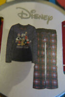 BNWT Primark Disney Dream Team Mickey Donald Duck tartan cotton pyjamas SIZE L