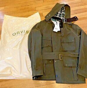 Men's Barbour Ursula Waxed Olive Coat Orvis Exclusive XXL NWT
