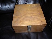 Antique Wooden Post Office File Box with Slots Latch Hook Locking System - 1946