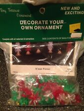 The Beadery Xmas Christmas Tree Forest Bead Craft Kit Makes 6 Trees New Rare
