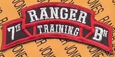 7th RTB AIRBORNE RANGER School Cadre scroll patch