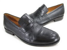 "SANDRO MOSCOLONI MEN'S ""MESA"" PENNY LOAFERS BLACK LEATHER US SIZE 12 MEDIUM (D)M"