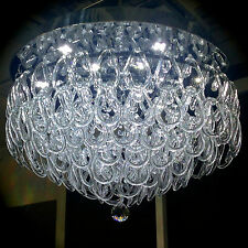 Hand Made Murano Glass Flush Chandelier white LED Ceiling light Lamp ITPL50MURA