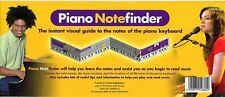 Piano notefinder Visual Keyboard guide apprendre à jouer leçon de piano diagramme