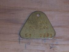 Vintage Dog License Tax Tag State of Indiana County 52 1591  yr 1966     dg21