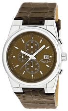 Kenneth Cole New York Men's KC1766 Brown Crocodile Leather Chronograph Watch
