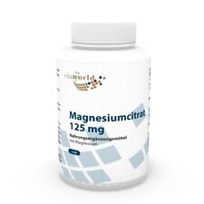 Magnesium citrate 125mg 120 Capsules Vita World German pharmacy production